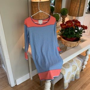 Sail to Sable Small knit dress! Light blue/stripes